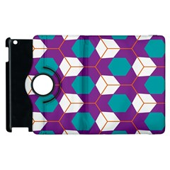 Cubes In Honeycomb Pattern Apple Ipad 3/4 Flip 360 Case by LalyLauraFLM