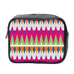 Chevron pattern Mini Toiletries Bag (Two Sides) by LalyLauraFLM