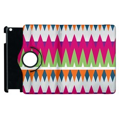 Chevron Pattern Apple Ipad 3/4 Flip 360 Case by LalyLauraFLM