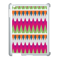 Chevron Pattern Apple Ipad 3/4 Case (white) by LalyLauraFLM