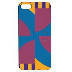 Blue Flower Apple Iphone 5 Hardshell Case With Stand by LalyLauraFLM
