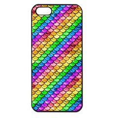 Rainbow Scales Apple Iphone 5 Seamless Case (black) by Ellador