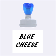 Blue Cheese Rubber Oval Stamps by TailWags