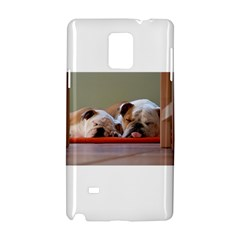 2 Sleeping Bulldogs Samsung Galaxy Note 4 Hardshell Case by TailWags