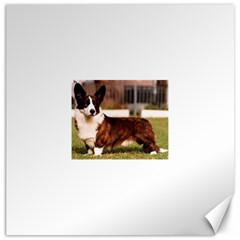 Cardigan Welsh Corgi Full Canvas 16  x 16   by TailWags
