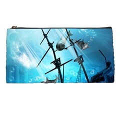 Awesome Ship Wreck With Dolphin And Light Effects Pencil Cases by FantasyWorld7