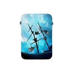 Awesome Ship Wreck With Dolphin And Light Effects Apple Ipad Mini Protective Soft Cases by FantasyWorld7
