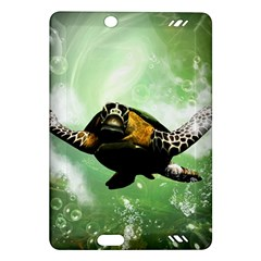 Wonderful Sea Turtle With Bubbles Kindle Fire Hd (2013) Hardshell Case by FantasyWorld7
