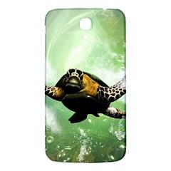 Wonderful Sea Turtle With Bubbles Samsung Galaxy Mega I9200 Hardshell Back Case by FantasyWorld7