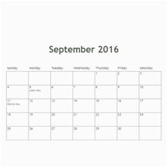 Calendar 2016 By Debbie   Wall Calendar 11  X 8 5  (12 Months)   Suvsm6uye9j5   Www Artscow Com Sep 2016
