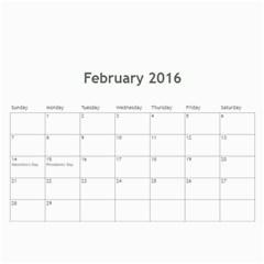 Calendar 2016 By Debbie   Wall Calendar 11  X 8 5  (12 Months)   Suvsm6uye9j5   Www Artscow Com Feb 2016