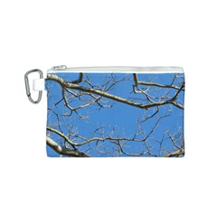Leafless Tree Branches Against Blue Sky Canvas Cosmetic Bag (s) by dflcprints