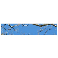 Leafless Tree Branches Against Blue Sky Flano Scarf (small)  by dflcprints