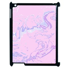 Unique Marbled 2 Baby Pink Apple Ipad 2 Case (black) by MoreColorsinLife
