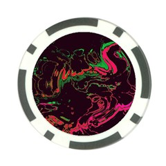 Unique Marbled 2 Tropic Poker Chip Card Guards by MoreColorsinLife