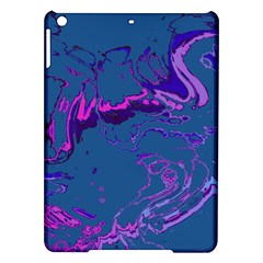 Unique Marbled 2 Blue Ipad Air Hardshell Cases by MoreColorsinLife