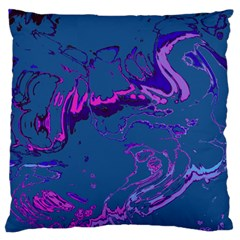 Unique Marbled 2 Blue Standard Flano Cushion Cases (Two Sides)  by MoreColorsinLife