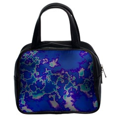 Unique Marbled Blue Classic Handbags (2 Sides) by MoreColorsinLife