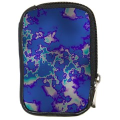 Unique Marbled Blue Compact Camera Cases by MoreColorsinLife