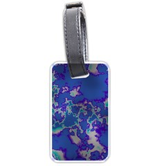 Unique Marbled Blue Luggage Tags (two Sides) by MoreColorsinLife