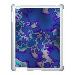 Unique Marbled Blue Apple Ipad 3/4 Case (white) by MoreColorsinLife