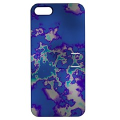 Unique Marbled Blue Apple Iphone 5 Hardshell Case With Stand by MoreColorsinLife