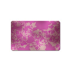 Unique Marbled Pink Magnet (Name Card) by MoreColorsinLife