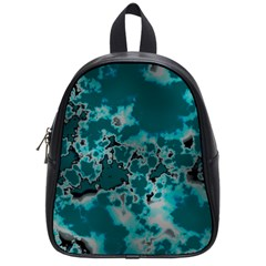 Unique Marbled Teal School Bags (small)  by MoreColorsinLife