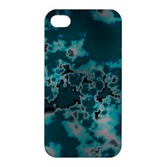 Unique Marbled Teal Apple Iphone 4/4s Hardshell Case by MoreColorsinLife