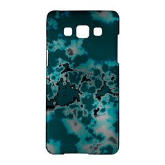 Unique Marbled Teal Samsung Galaxy A5 Hardshell Case  by MoreColorsinLife