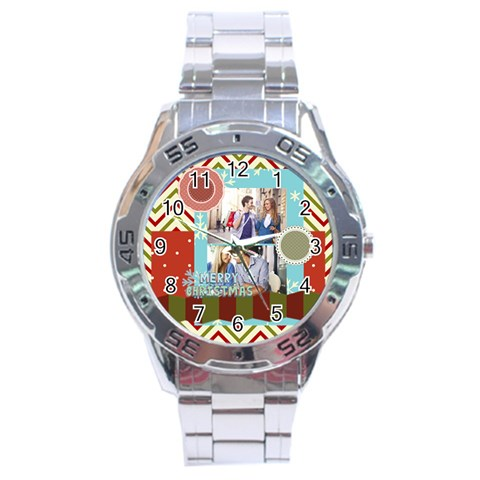 Xmas By Joy   Stainless Steel Analogue Watch   X0nh0zfuqobl   Www Artscow Com Front