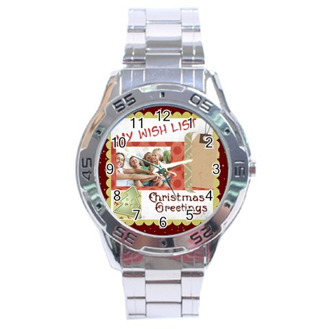 Xmas By Joy   Stainless Steel Analogue Watch   O9q2ctw0r7rw   Www Artscow Com Front