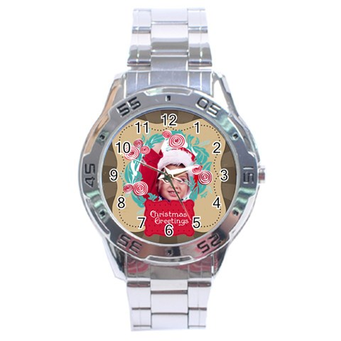Xmas By Joy   Stainless Steel Analogue Watch   Asjri62uf669   Www Artscow Com Front