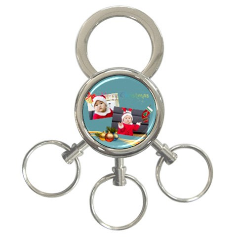 Xmas By Xmas   3 Ring Key Chain   6nfv9a2x75a4   Www Artscow Com Front