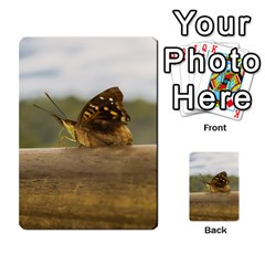 Butterfly Against Blur Background At Iguazu Park Multi Purpose Cards (rectangle)  by dflcprints