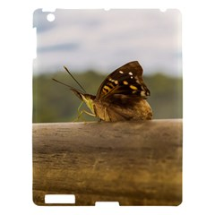 Butterfly Against Blur Background At Iguazu Park Apple Ipad 3/4 Hardshell Case by dflcprints