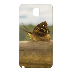 Butterfly Against Blur Background At Iguazu Park Samsung Galaxy Note 3 N9005 Hardshell Back Case by dflcprints