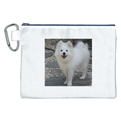 American Eskimo Dog Full Canvas Cosmetic Bag (XXL)  by TailWags