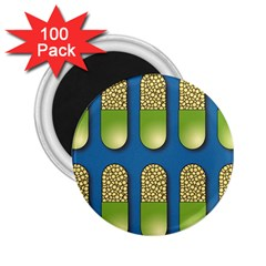 Capsule Pattern 2 25  Magnets (100 Pack)  by theimagezone