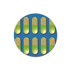 Capsule Pattern Magnet 3  (round) by theimagezone