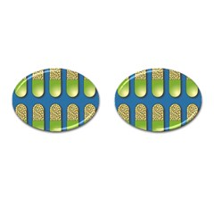 Capsule Pattern Cufflinks (oval) by theimagezone
