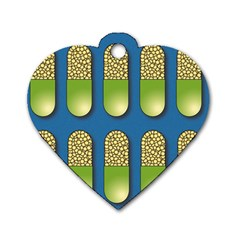 Capsule Pattern Dog Tag Heart (two Sides) by theimagezone
