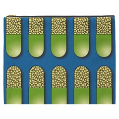Capsule Pattern Cosmetic Bag (xxxl)  by theimagezone