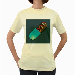Dna Capsule Women s Yellow T Shirt by theimagezone