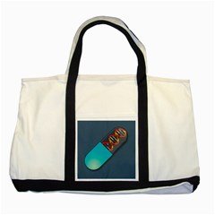 Dna Capsule Two Tone Tote Bag  by theimagezone