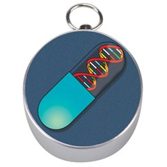 Dna Capsule Silver Compasses by theimagezone