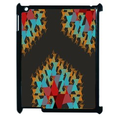 Blue, Gold, And Red Pattern Apple Ipad 2 Case (black) by theunrulyartist