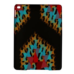 Blue, Gold, and Red Pattern iPad Air 2 Hardshell Cases by theunrulyartist