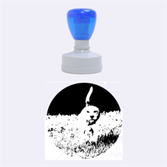 Beagle Walking Rubber Round Stamps (Medium) by TailWags