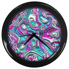 Art Deco Candy Wall Clocks (black) by MoreColorsinLife